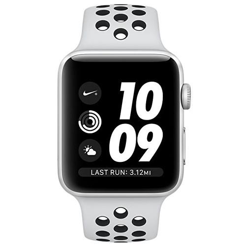 01484a1bb ... Watch Nike+ 42 mm stříbrný hliník s platinovým/černým Nike sportovním  řemínkem 1