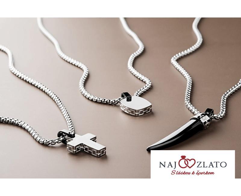 54b595366 Brosway Pánský ocelový náhrdelník s křížkem Sign BGN02 | Nejzlato.cz