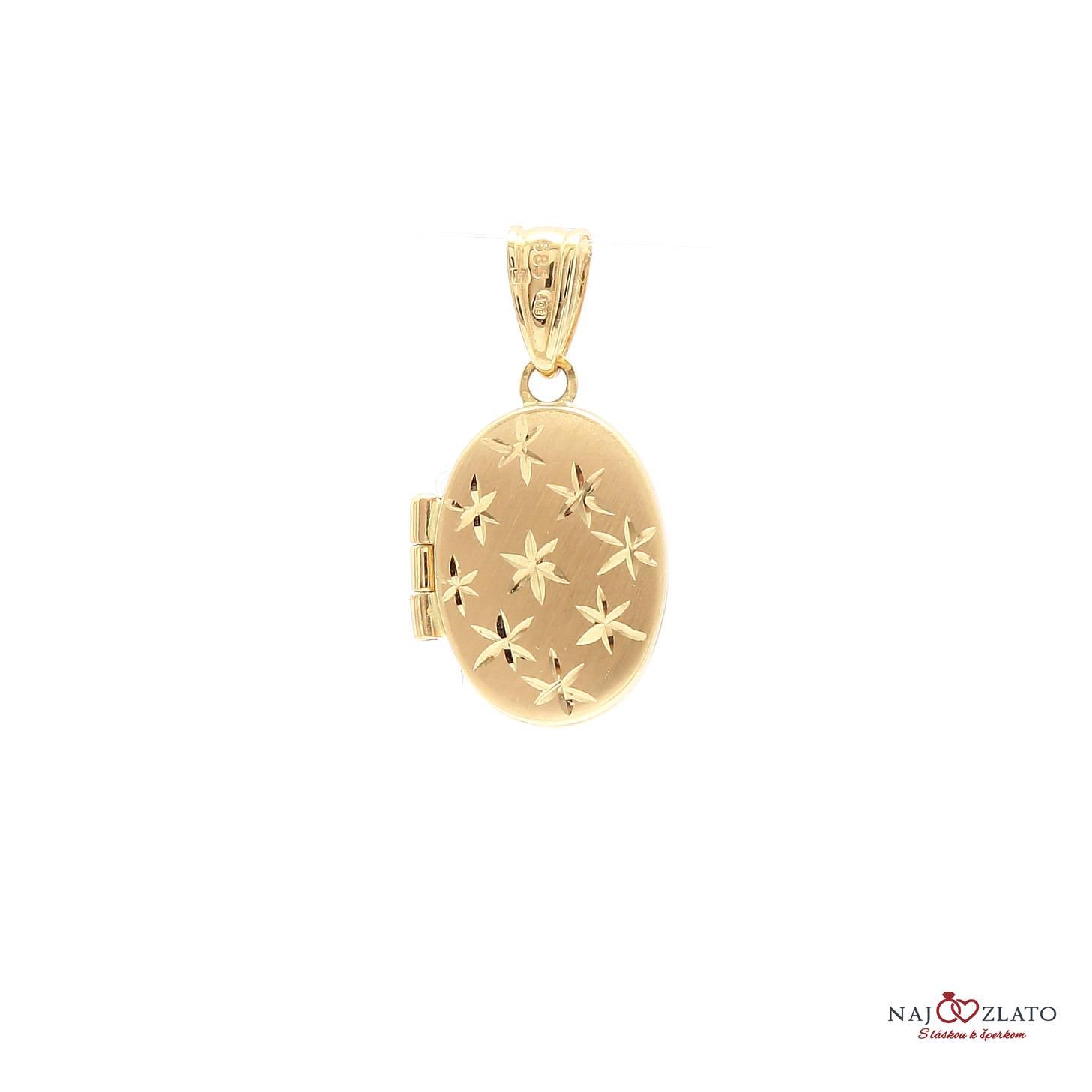 zlatý gravírovaný medailón na fotku ... 654e7d3b93a