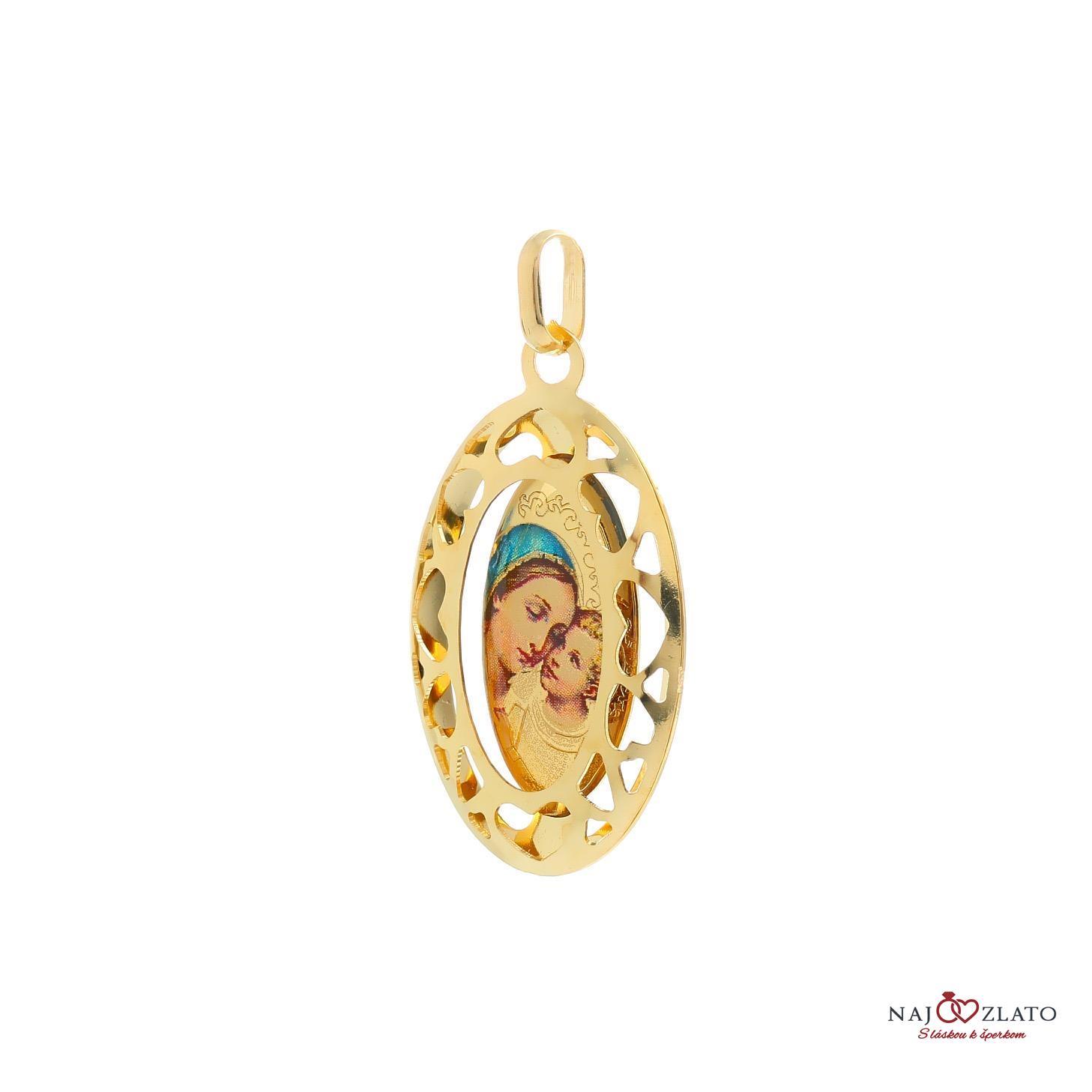 ... zlatý veľký medailón madony s dieťaťom 2 ... 6ab4d707c36