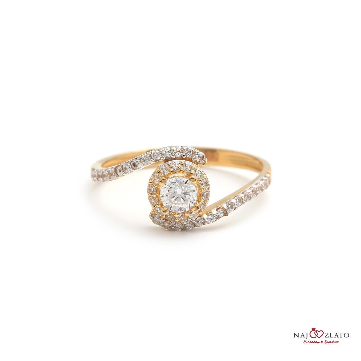 ... zlatý zásnubný prsteň kimimela 1 402e70c3a72