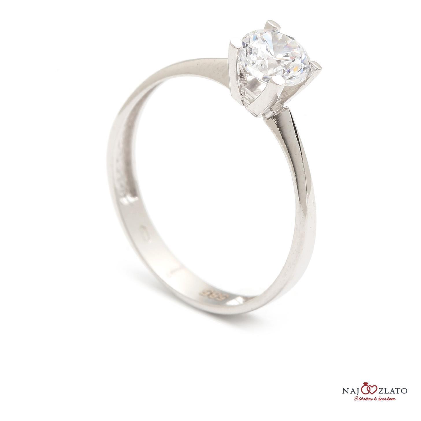 zlatý zásnubný prsteň lurdes ... ba95dc05a94